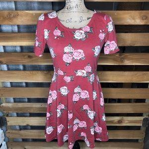 Freshman Red Flower Dress